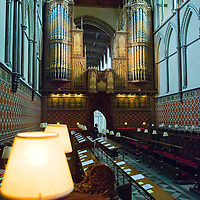 The Quire and the organ in Rochester Cathedral, Kent, England