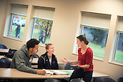 Marketing professor, Peggy Sue Loroz working with students.<br />