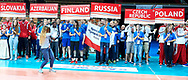 Katowice, Poland - 2017 September 03: SO Slovakia and SO Azerbaijan and SO Finland and SO Russia and SO Czech Republic and SO Poland while Awarding Ceremony during European Unified Volleyball Tournament 2017 at Spodek Hall on September 03, 2017 in Katowice, Poland.<br /> <br /> Adam Nurkiewicz declares that he has no rights to the image of people at the photographs of his authorship.<br /> <br /> Picture also available in RAW (NEF) or TIFF format on special request.<br /> <br /> Any editorial, commercial or promotional use requires written permission from the author of image.<br /> <br /> Image can be used in the press when the method of use and the signature does not hurt people on the picture.<br /> <br /> Mandatory credit:<br /> Photo by © Adam Nurkiewicz / Mediasport