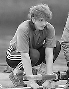 Staines, GREAT BRITAIN,   <br /> Sue SMITH. British Rowing Women's Heavy Weight Assessment. Thorpe Park. Sunday 21.02.1988,<br /> <br /> [Mandatory Credit, Peter Spurrier / Intersport-images] 19880221 GBR Women's H/Weight Assesment Thorpe Park, Surrey.UK