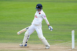 James Adams of Hampshire dodges the ball - Mandatory byline: Dougie Allward/JMP - 07966386802 - 11/09/2015 - Cricket - County Ground -Taunton,England - Somerset CCC v Hampshire CCC - LV=County Championship - Day 3
