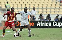 Fotball<br /> Foto: DPPI/Digitalsport<br /> NORWAY ONLY<br /> <br /> FOOTBALL - AFRICAN NATIONS CUP 2010 - GROUP B - BURKINA FASO v GHANA - 19/01/2010<br /> <br /> ANDRE AYEW (GHA) / MADI SAIDOU PANANDETIGUIRI (BUR)