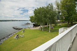 United States, Washington, Bellevue, Medina Beach Park and Lake Washington