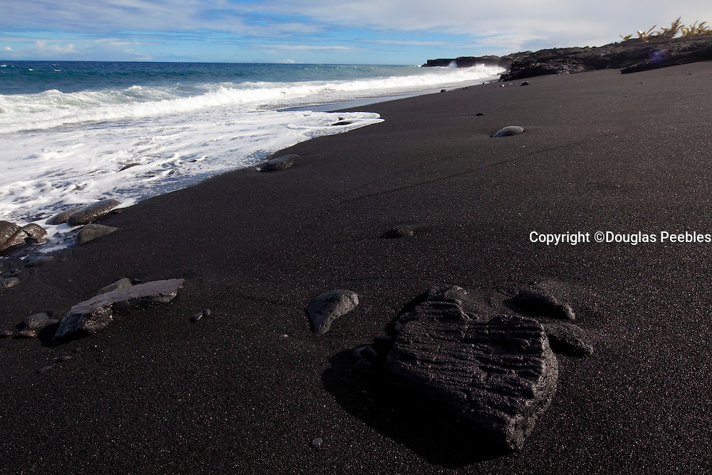 New Kaimu Black Sand Beach, Kalapana, Puna, Island of Hawaii