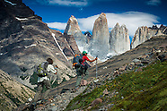 Hiking in Torres del Paine National Park, Patagonia, Chile
