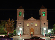 Evening photograph of Our Lady de La Paz Cathedral, La Paz, BCS, Mexico
