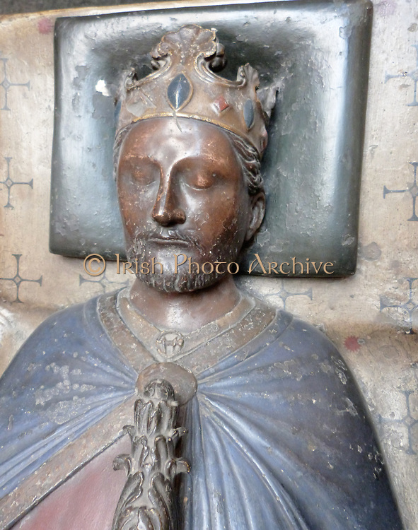 Plaster cast ( with restored gilding). Tomb effigy, in gilt bronze of Henry III of England (b 1206; d1272) in the Confessors Chapel, Westminster Abbey, by William Torel, about 1292.