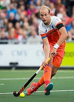 AMSTELVEEN -  Billy Bakker (Ned) .  Nederland-Spanje (heren) bij de Rabo EuroHockey Championships 2017.  COPYRIGHT KOEN SUYK