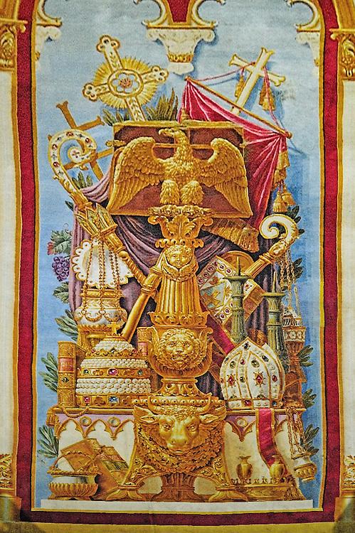6 janvier 2017: le tapie de choeur de la cathédrale Notre-Dame de PAris est exposé du 3 au 14 janvier 2017. Paris (75), France.