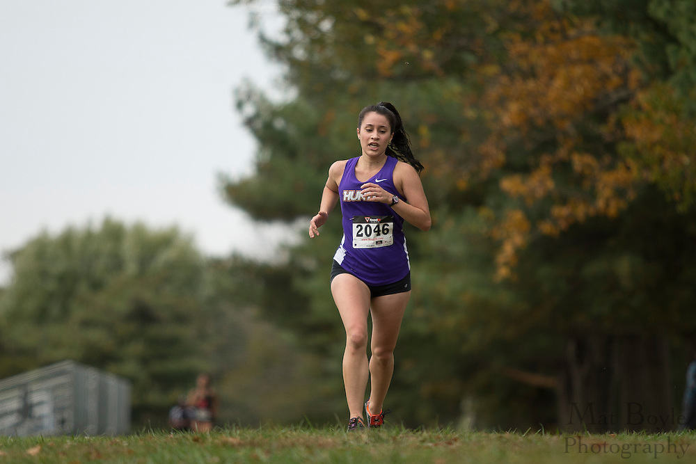 Hunter College Alysa Locknikar - Collegiate Track Conference  Cross-Country Women's Championship at Gloucester County College in Sewell, NJ on Saturday October 19, 2013. (photo / Mat Boyle)