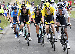 July 25, 2018 - Saint Lary Soulan, France - SAINT-LARY-SOULAN COL DU PORTET, FRANCE - JULY 25 : KRUIJSWIJK Steven (NED) of Team Lotto NL - Jumbo, ROGLIC Primoz (SLO) of Team Lotto NL - Jumbo, THOMAS Geraint (GBR) of Team SKY  during stage 17 of the 105th edition of the 2018 Tour de France cycling race, a stage of 65 kms between Bagneres-de-Luchon and Saint-Lary-Soulan Col Du Portet on July 25, 2018 in Saint-Lary-Soulan Col Du Portet, France, 25/07/2018 (Credit Image: © Panoramic via ZUMA Press)