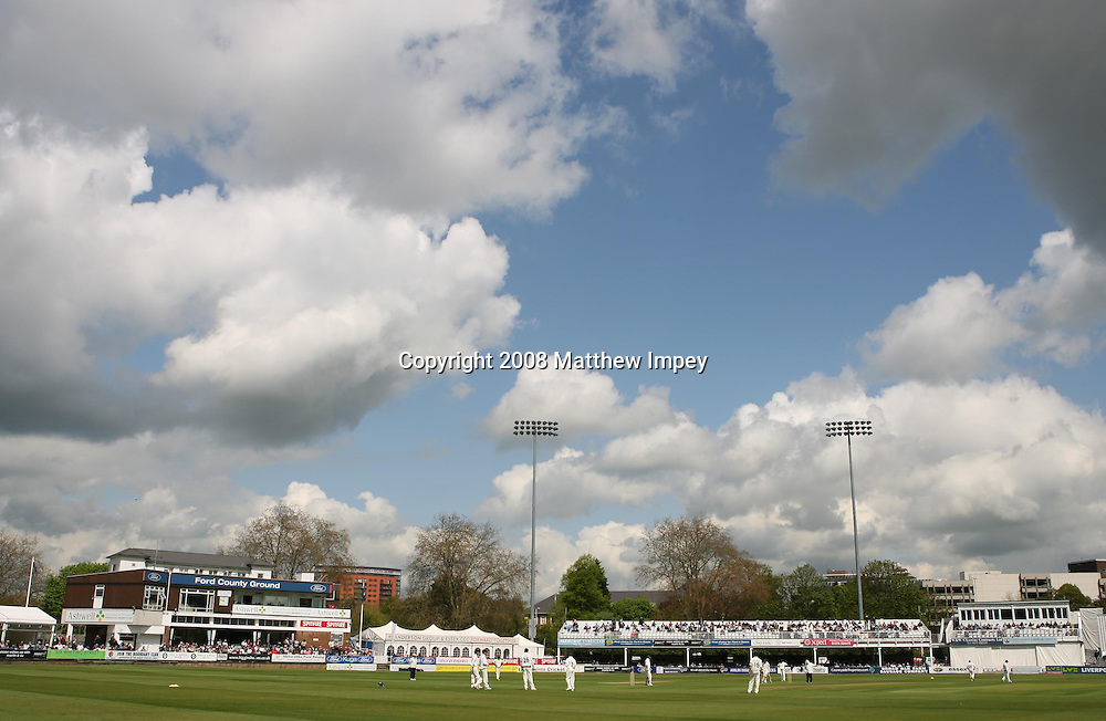 A general view of the County Ground Chelmsford. Essex v New Zealand, Day 1, County Ground, Chelmsford, Cricket, 02/05/2008. © Matthew Impey / Wiredphotos.co.uk. tel: 07789 130 347 e: matt@wiredphotos.co.uk