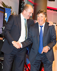 29.10.2015, Austria Center Vienna, Wien, AUT, Lotterien-Gala, Nacht des Sports 2015, im Bild v.l.n.r. Herbert Prohaska und ÖSV Präsident Peter Schröcksnadel // f.l.t.r. former football player Herbert Prohaska and president of the austrian ski federation Peter Schroecksnadel during Lotterien galanight of sports 2015 at Austria Center in Vienna on 2015/10/29, EXPA Pictures © 2015 PhotoCredit: EXPA/ Michael Gruber