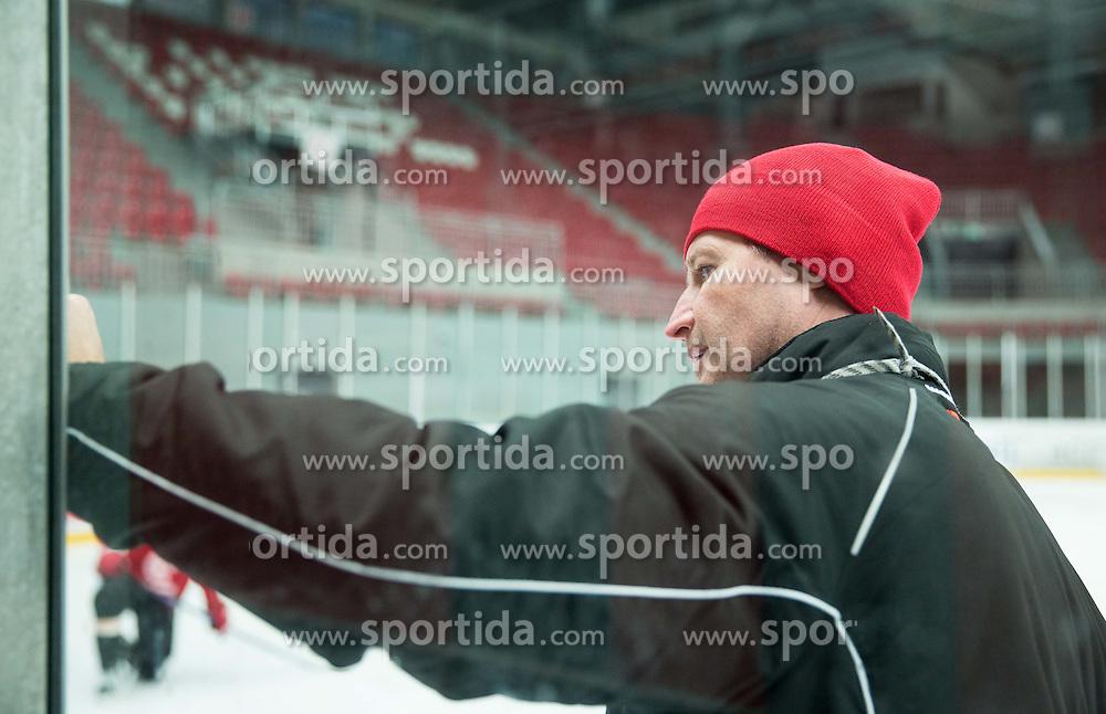 Nik Zupancic, head coach during practice session of HD Jesenice, on April 5, 2015 in Arena Podmezakla, Jesenice, Slovenia. Photo by Vid Ponikvar / Sportida