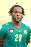 Photo: Steve Bond/Richard Lane Photography.<br />Cameroun v Zambia. Africa Cup of Nations. 26/01/2008. Andre Bikey of Cameroon & Reading