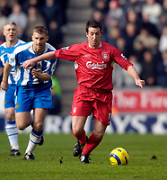 Photo: Jed Wee.<br />Wigan Athletic v Liverpool. The Barclays Premiership. 11/02/2006.<br />Robbie Fowler, making his first start for Liverpool in his second spell at the club.