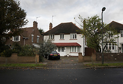 © Licensed to London News Pictures. 04/11/2017. London, UK. A house (C) in Wimbledon where a seven year old girl was found seriously injured on Friday and has since died. Robert Peters appeared at Wimbledon Magistrates' Court on Saturday and was charged with attempted murder.  Photo credit: Peter Macdiarmid/LNP