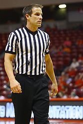 15 March 2012:  Referee Rod Creech during a first round WNIT basketball game between the Central Michigan Chippewas and the Illinois Sate Redbirds at Redbird Arena in Normal IL