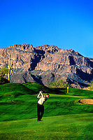 The Fourth Hole on Dinosaur Mountain; Gold Canyon Golf Resort; Gold Canyon; Arizona USA