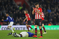 Football - 2018 / 2019 Premier League - Southampton vs. Everton<br /> <br /> Kurt Zouma of Everton lies on the ground as play continues around him at St Mary's Stadium Southampton<br /> <br /> COLORSPORT/SHAUN BOGGUST
