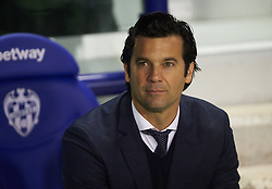 February 24, 2019 - Valencia, Valencia, Spain - Head Coach Santiago Hernan Solari of Real Madrid prior the La Liga match between Levante and Real Madrid at Estadio Ciutat de Valencia on February 24, 2019 in Valencia, Spain. (Credit Image: © Maria Jose Segovia/NurPhoto via ZUMA Press)