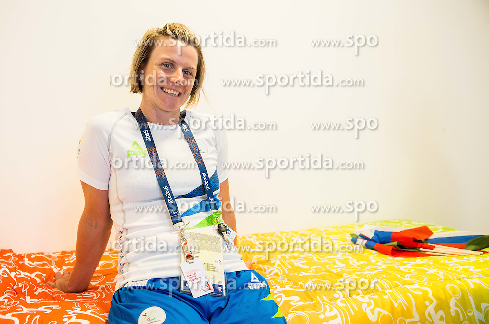 Nina Mozetic of Slovenia in the Paralympic Village 3 days ahead of the Rio 2016 Summer Paralympics Games on September 4, 2016 in Rio de Janeiro, Brazil. Photo by Vid Ponikvar / Sportida