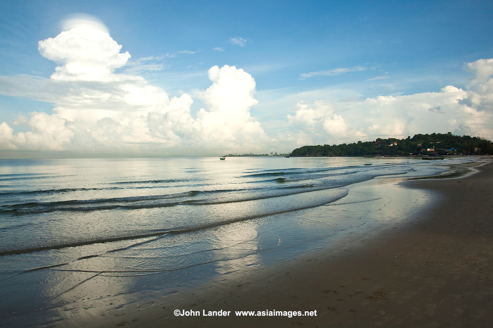 Ochheuteal Beach is sometimes called Serendipity Beach.  The beach is Sihanoukville's longest and most active with all kinds of activities, water sports, beach cafes and of course clean, warm tropical waters.
