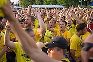 Broendby Football fans in Berlin