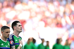Kyle Lafferty of Northern Ireland sings the national anthem  - Mandatory by-line: Joe Meredith/JMP - 12/06/2016 - FOOTBALL - Stade de Nice - Nice, France - Poland v Northern Ireland - UEFA European Championship Group C