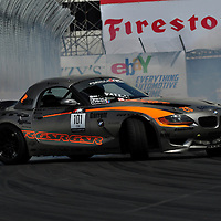 Michael Essa competing in the Formula DRIFT 2012 at Toyota Grand Prix of Long Beach Street Course