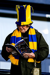 Shrewsbury Town fan reads the match day programme - Mandatory by-line: Robbie Stephenson/JMP - 26/01/2019 - FOOTBALL - Montgomery Waters Meadow - Shrewsbury, England - Shrewsbury Town v Wolverhampton Wanderers - Emirates FA Cup fourth round