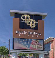 Exterior photo of Baltimore Beltway Plaze Retail Center in Maryland by Jeffrey Sauers of Commercial Photographics, Architectural Photo Artistry in Washington DC, Virginia to Florida and PA to New England