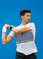 Aegon International 2017- Eastbourne - England - ATP Men's Singles Final. Novak Djokovic of Serbia in action against Gael Monfils of France. Saturday, 1st July, 2017 - Devonshire Park.<br /> (Photo by Nick Walker/Sport Picture Library)