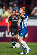 Dani Bowman (Capt) (Brighton) during the FA Women's Super League match between Brighton and Hove Albion Women and Chelsea at The People's Pension Stadium, Crawley, England on 15 September 2019.
