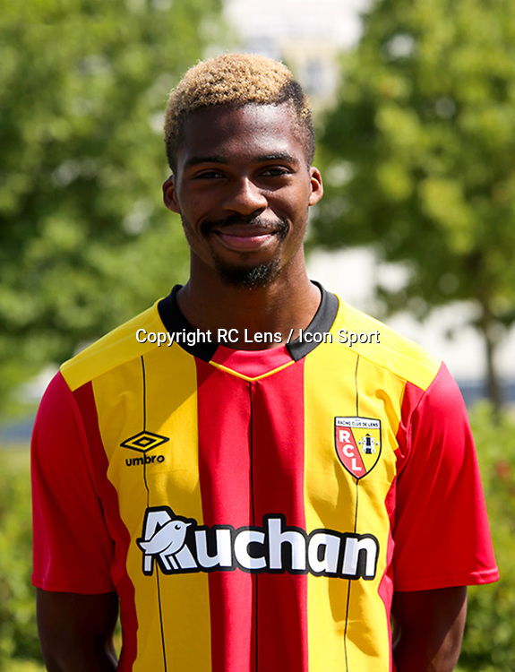 Jean Kevin Duverne during photoshooting of RC Lens for new season 2017/2018 on October 5, 2017 in Lens, France<br /> Photo by RC Lens / Icon Sport