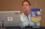 Football - FIFA Beach Soccer World Cup 2006 - Team Coordination Meeting for Group Stage - Rio de Janeiro - Brazil 01/11/2006 - Delia Fischer speaks during the meeting -<br />