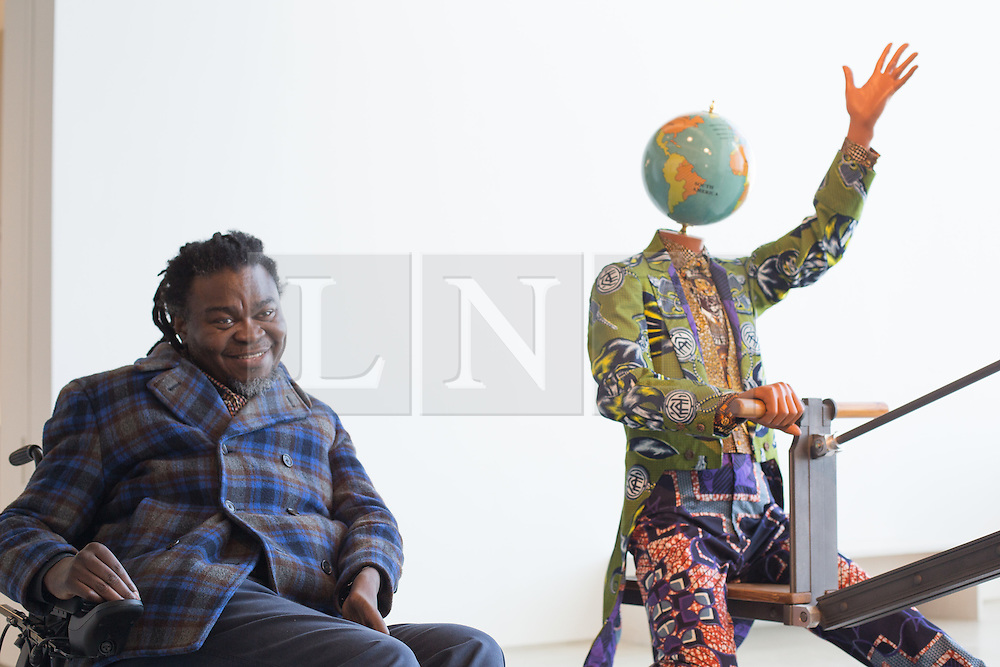 "@Licensed to London News Pictures 22/03/16.Margate, Kent. Yinka Shonibare MBE displays his newest sculptural work titled ""End of Empire"" at Turner Contemporary gallery in Margate, Kent. This piece of work is part of the 14-18 NOW programme of World War 1 Centenary Art commissions. Photo credit: Manu Palomeque/LNP"