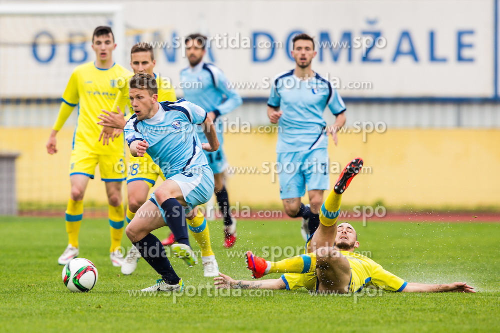 Deja Zigon of ND Gorica during football match between NK Domzale and ND Gorica in 28th Round of Prva liga Telekom Slovenije 2014/15, on April 18, 2015 in Sports park Domzale, Slovenian. . (Photo by Grega Valancic / Sportida.com)