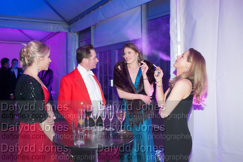 EMILY HANNIFFY; MAJ NEIL CROSS; SARAH FITZPATRICK; KATIE ROBINSON, Quorn Hunt Ball, Stanford Hall. Standford on Soar. 25 January 2014