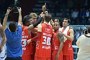 DESCRIZIONE : Caserta campionato serie A 2013/14 Pasta Reggia Caserta EA7 Olimpia Milano<br /> GIOCATORE : team milano<br /> CATEGORIA : esultanza<br /> SQUADRA : EA7 Olimpia Milano<br /> EVENTO : Campionato serie A 2013/14<br /> GARA : Pasta Reggia Caserta EA7 Olimpia Milano<br /> DATA : 27/10/2013<br /> SPORT : Pallacanestro <br /> AUTORE : Agenzia Ciamillo-Castoria/GiulioCiamillo<br /> Galleria : Lega Basket A 2013-2014  <br /> Fotonotizia : Caserta campionato serie A 2013/14 Pasta Reggia Caserta EA7 Olimpia Milano<br /> Predefinita :