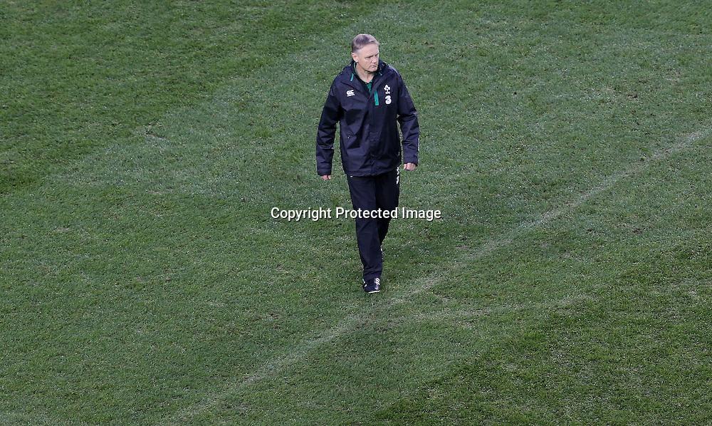 Guinness Series, Aviva Stadium, Dublin 22/11/2014<br /> Ireland vs Australia<br /> Ireland head coach Joe Schmidt <br /> Mandatory Credit &copy;INPHO/Ryan Byrne