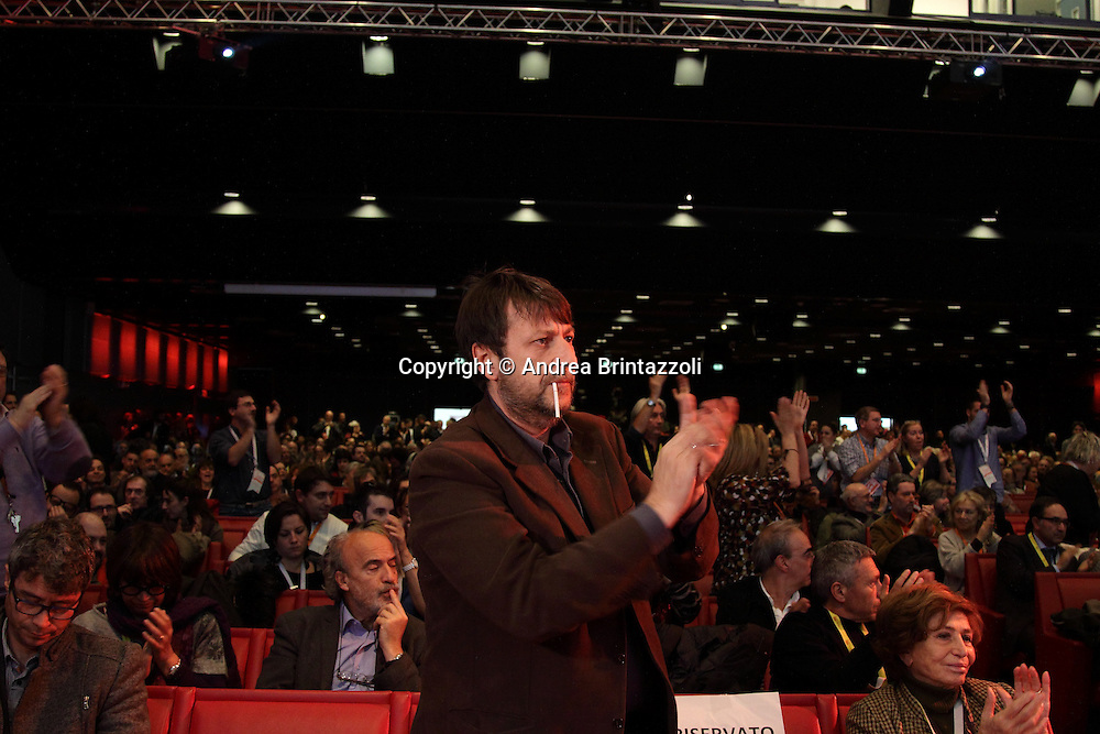 Riccione 25 Gennaio 2014 - 2&deg; Congresso Nazionale Sinistra Ecologia Liberta' - SEL<br /> Luca Casarini al congresso SEL