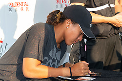 October 8, 2018 - Hong Kong, Hong Kong SAR, China - Reigning US Open women singles champion, Naomi Osaka, meets the press and fans at the Prudential Hong Kong Tennis Open despite withdrawing from the competition due to a back injury. The world No.6 hopes the injury sustained in Beijing with recover enough for the Singapore open. (Credit Image: © Jayne Russell/ZUMA Wire)