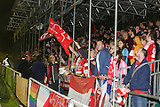 Whitehawk fans during the The FA Cup 2nd Round Replay match between Whitehawk FC and Dagenham and Redbridge at the Enclosed Ground, Whitehawk, United Kingdom on 16 December 2015. Photo by Phil Duncan.