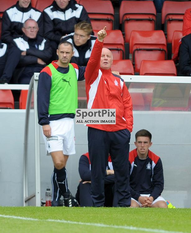 Falkirk Manager Peter Houston<br /> <br /> Stirling Albion v Falkirk, Betfred Cup, Saturday 16th July 2016 <br /> <br /> (c) Alex Todd | SportPix.org.uk
