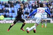 Samuel Saiz (21) of Leeds United on the attack during the EFL Sky Bet Championship match between Reading and Leeds United at the Madejski Stadium, Reading, England on 10 March 2018. Picture by Graham Hunt.