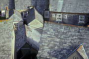 Rooftops in England.