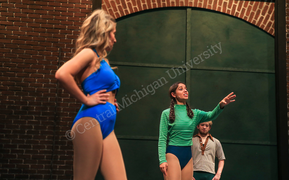 """CCFA- Dress rehearsal of  """"A Chorus Line"""" on the campus of Central Michigan University.   Central Michigan University photos by Steve Jessmore"""