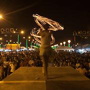 Fire dancer performing at the Balayong Festival, Baywalk, Puerto Princesa, Palawan, the Philippines.