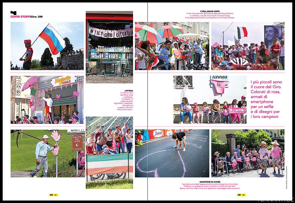 Giro d'Italia 2017, Sportweek RCS.<br /> Sportweek n21 27-05-2017 pag3